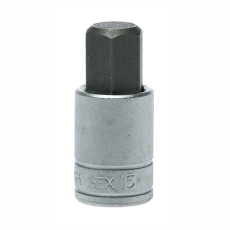 """M121515-C 1/2""""(四分)六角體S2起子頭套筒 15mm"""
