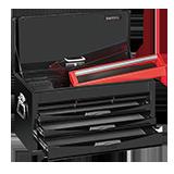 TC806NBK 鋼珠滑軌自動回覆型6抽上櫃工具箱